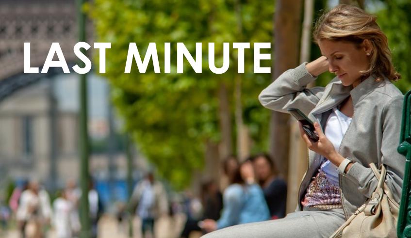 Enjoy our Last Minute Offer -10% PROMOTION