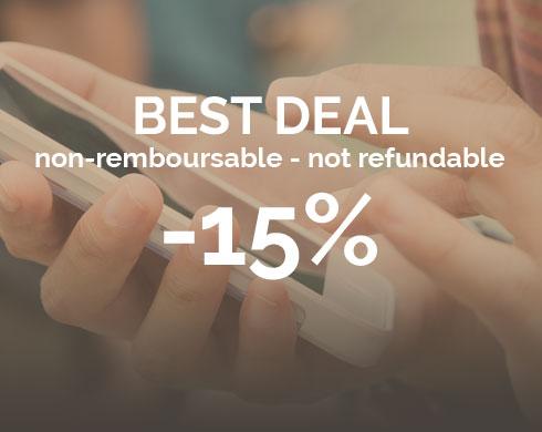 Réservez dès maintenant et économisez 15% !
